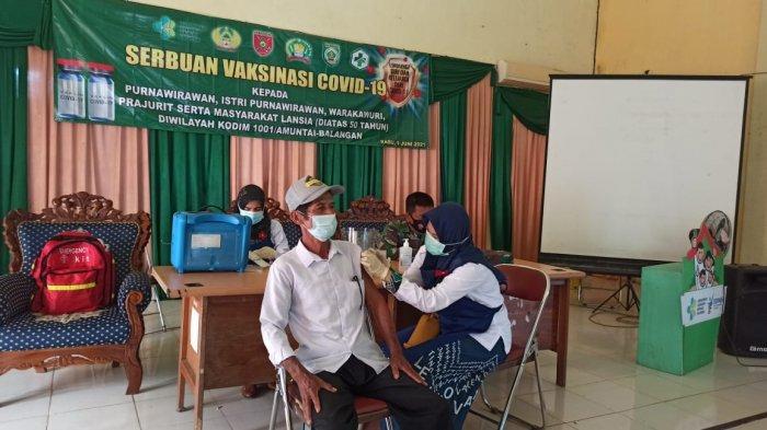 Wabah Corona Kalsel, 100 Dosis Vaksin Diserahkan dari Kodim 1001/Amuntai-Balangan