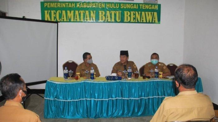 Lakukan Kunjungan Kerja ke Kecamatan Batu Benawa, Wabup HST Ajak ASN Budayakan Disiplin Kerja