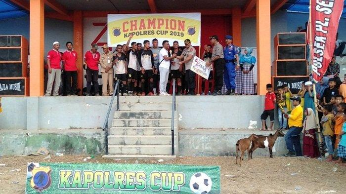 Persekan Kerayaan Kotabaru Juara Kapolres Cup 2019, Tundukan Persal di Babak Final dengan Skor 1-0