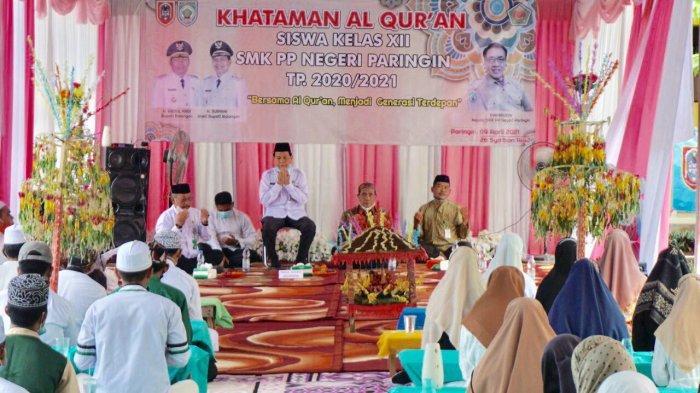 Tak Hanya Uji Kompetensi, SMK PP Paringin Khatamkan Alquran sebagai Bekal Agama Petani Milenial