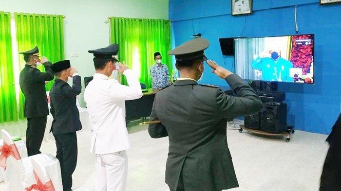 Wakil Bupati Batola dan Forkopimda Ikuti Peringatan HUT ke-76 RI Secara Virtual