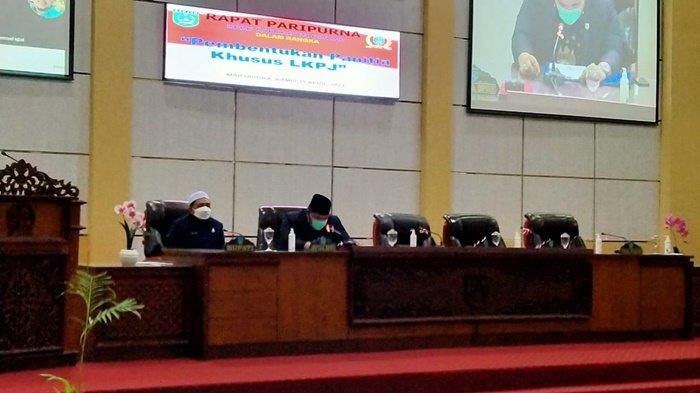 Wabup Banjar Hadiri Pembentukan Pansus Dewan Bahas LKPj 2020