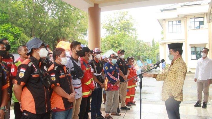 Wabup HST Lepas Relawan Balakar 654 Murakata Antar Bantuan untuk Korban Banjir di Kalteng