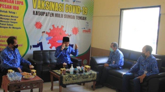 Wakil Bupati HST H Mansyah Sabri saat silaturahmi tatap muka dengan Kadinkes dan Jajaran DInkes HST