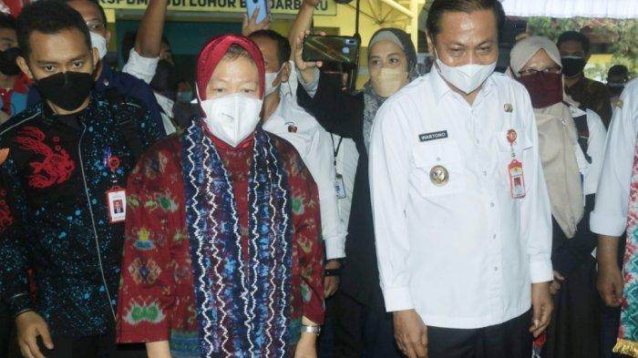 Menteri Sosial RI Tri Rismaharini Berkunjung ke Panti Sosial Budi Luhur di Kota Banjarbaru