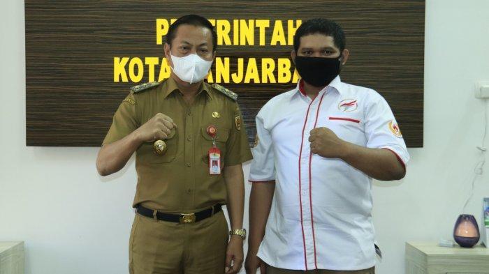 Wakil Wali Kota Banjarbaru Wartono SE menerima Pengurus Cabang Olahraga e-Sport Indonesia Kota Banjarbaru, Senin (19/7/2021).