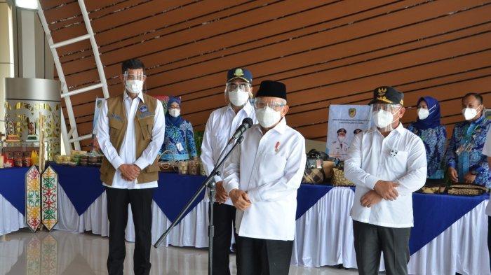 Kunker ke Kalteng, Wapres Ma'ruf Amin Tergetkan Akhir Tahun , 181,5 Juta Warga Tervaksinasi