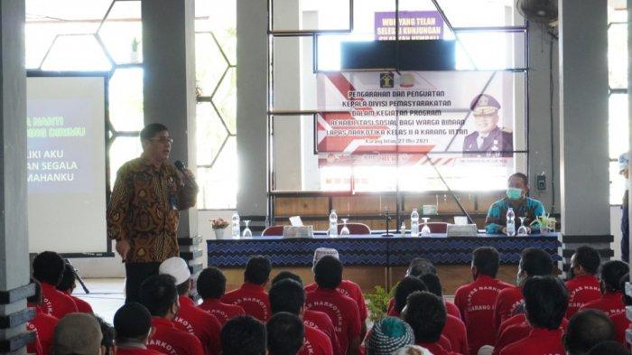 240 WBP Lapas Karang Intan Kabupaten Banjar Dapatkan Penyuluhan Bahaya Narkoba