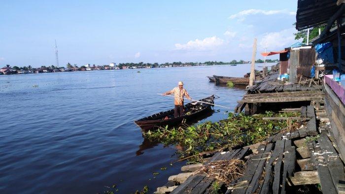 Memprihatinkan, Pelabuhan Pasar Marabahan Batola Kalsel Kian Rusak