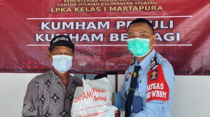 LPKA Martapura Salurkan 42 Paket Bantuan Bagi Masyarakat Serta 7 Paket untuk ASN Kemenkumham