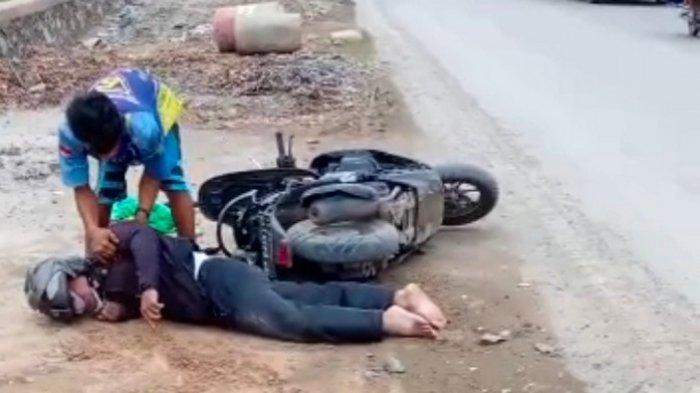 Kecelakaan Kalsel : Tabrakan dengan Truk di Lianganggang Banjarbaru, Pengendara Honda Scoopy Kritis