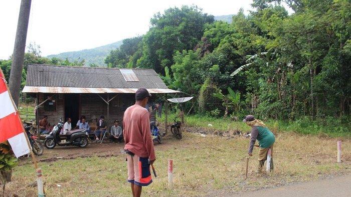 Tak Cuma Jadi Kebun, di Lahan Bumi Perkemahan Milik Pemkab Tala di Bajuin Juga Berdiri Rumah Warga