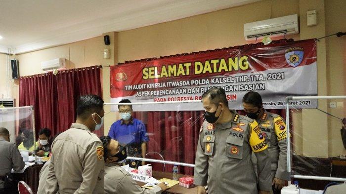Terima Kunjungan Pemeriksaan, Polresta Banjarmasin Jalin Komunikasi dengan Itwasda Polda Kalsel