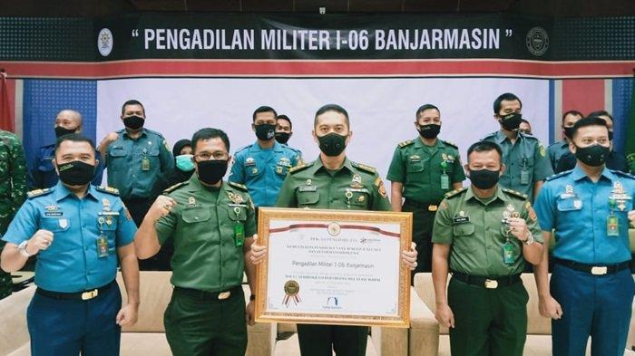 Pengadilan Militer I-06 Banjarmasin di Banjarbaru Raih Predikat WBBM 2020