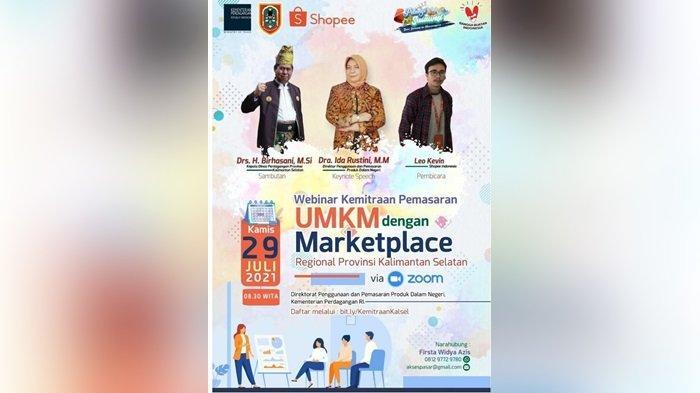 Sebanyak 206 UMKM se-Kalsel Ikuti Webinar Pasar Online Bersama Mitra Marketplace Shopee