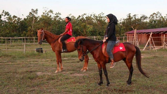 Wisata Kalsel, Olahraga Sambil Mengenal Perlengkapan Berkuda di Jabal Diamond Horse Ridin Banjarbaru