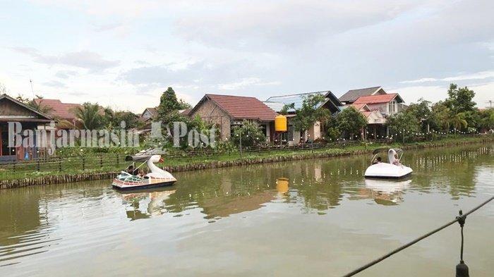 Wisata Kalsel, Ada Wahana Bebek Air di Kafe Cangkir Coffee Banjarmasin