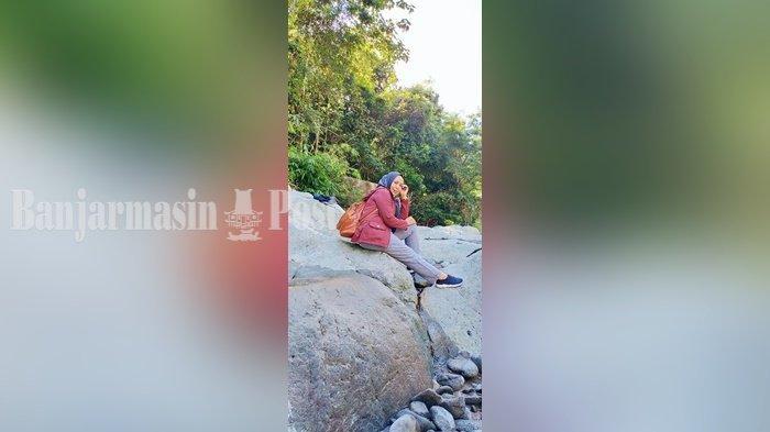 Wisata Kalsel, Mampir di Batu Raksasa Sebelum ke Air Terjun Ayakan Baras Kabupaten HST