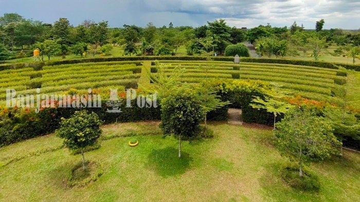 Wisata Kalsel, Labirin dari Tanaman Pucuk Merah dan Teh di Kebun Raya Banua Banjarbaru