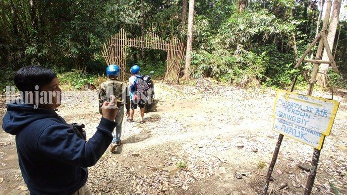 Wisata Kalsel, Pesona Air Terjun Riam Bainggi di Kabupaten Balangan