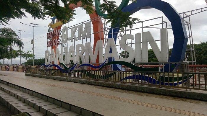 Tempatnya Nyaman dan Keren, Kini Taman Siring Nol Kilometer Jadi Wisata Alternatif di Banjarmasin