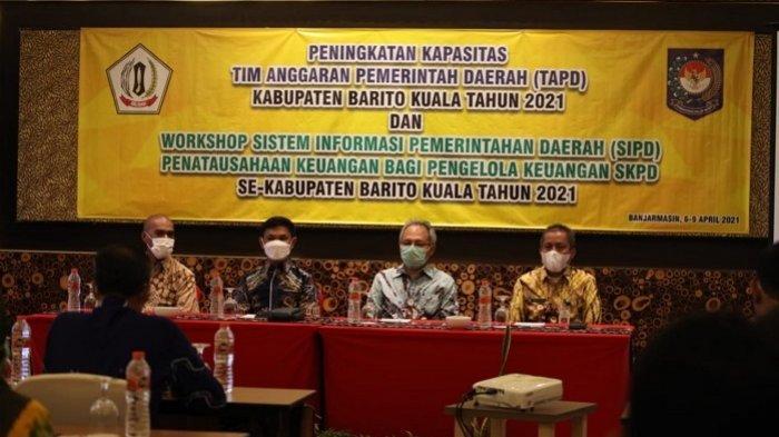 Workshop Sistem Informasi Pemerintahan Daerah (SIPD) se Batola, Selasa (6/4/2021).