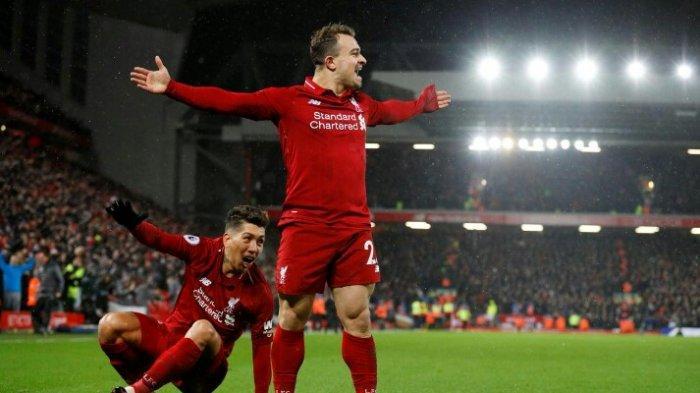 UPDATE Skor Hasil Liverpool vs Manchester United, Brace Shaqiri Bawa The Reds Unggul 3-1
