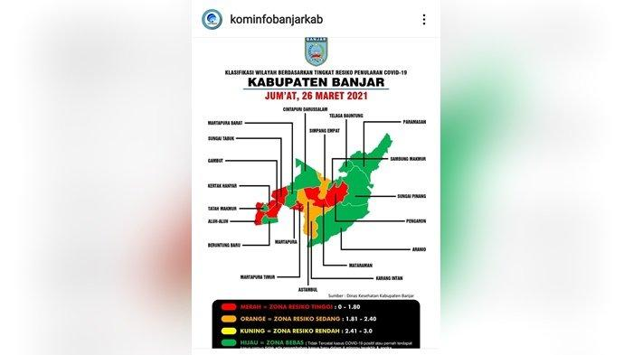 Wilayah Pemungutan Suara Ulang Pilgub Kalsel 2020 Masuk Zona Resiko Tinggi Penularan Covid -19