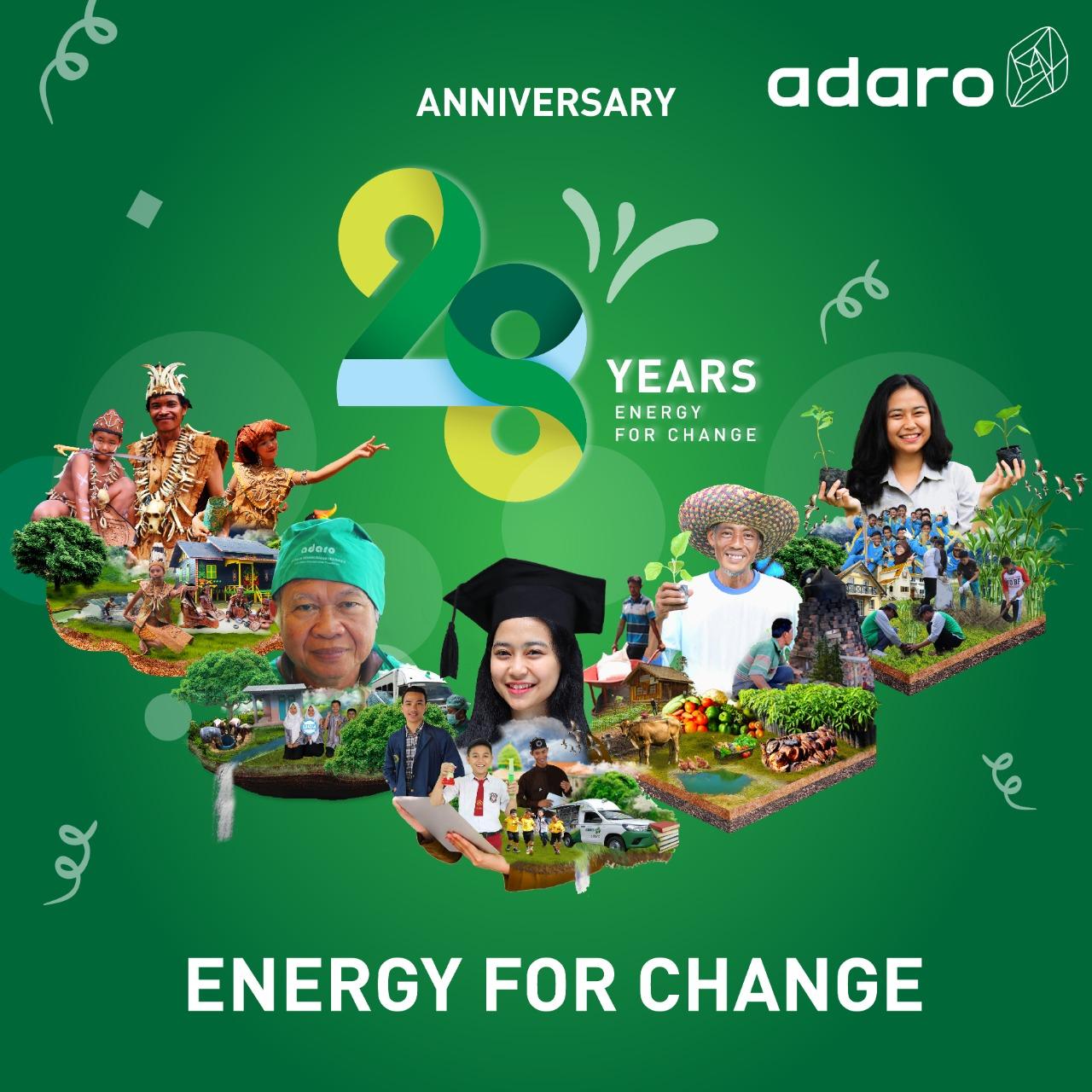 Anniversary 28 Years Adaro Energy For Change.