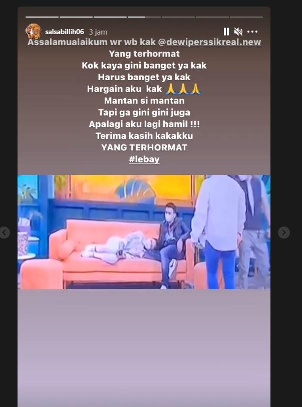 Postingan Istri Aldi Taher untuk Dewi Perssik.