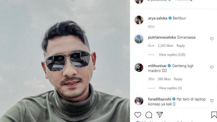 Kode liburan Arya Saloka, Putri Anne berkomentar (Instagram via Tribun Sumsel)