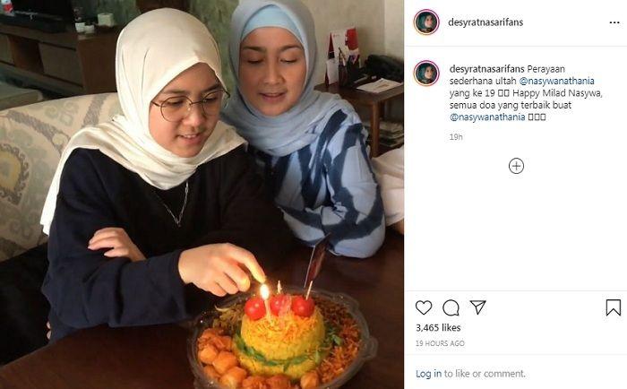 Perayaan ulang tahun putri Desy Ratnasari, Nasywa Nathania Hamzah ke-19
