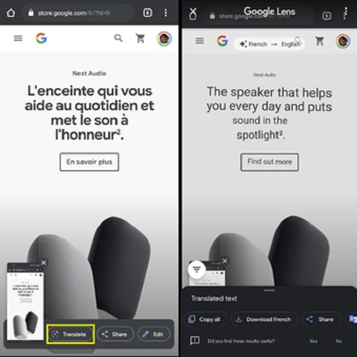 Google Lens kini bisa men-translate teks pada foto screenshot secara otomatis.