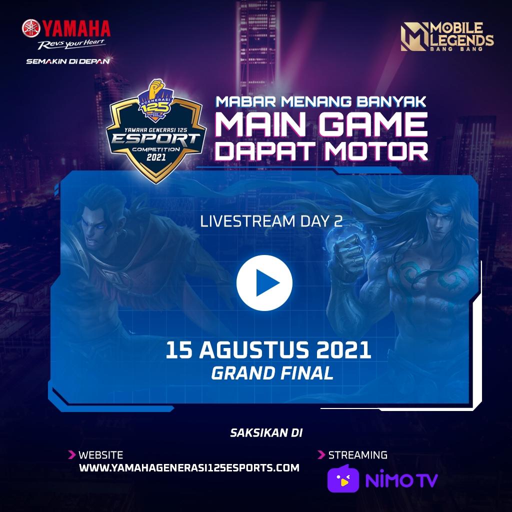 Grand Final Yamaha Generasi125 E-Sports Competition (YGEC) 2021 dilaksanakan saat Minggu, 15 Agustus 2021.