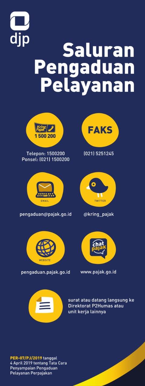Infografis layanan pengaduan DJP Kalselteng.