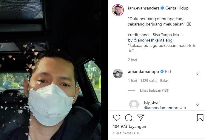Komentar Amanda Manopo di postingan Evan Sanders