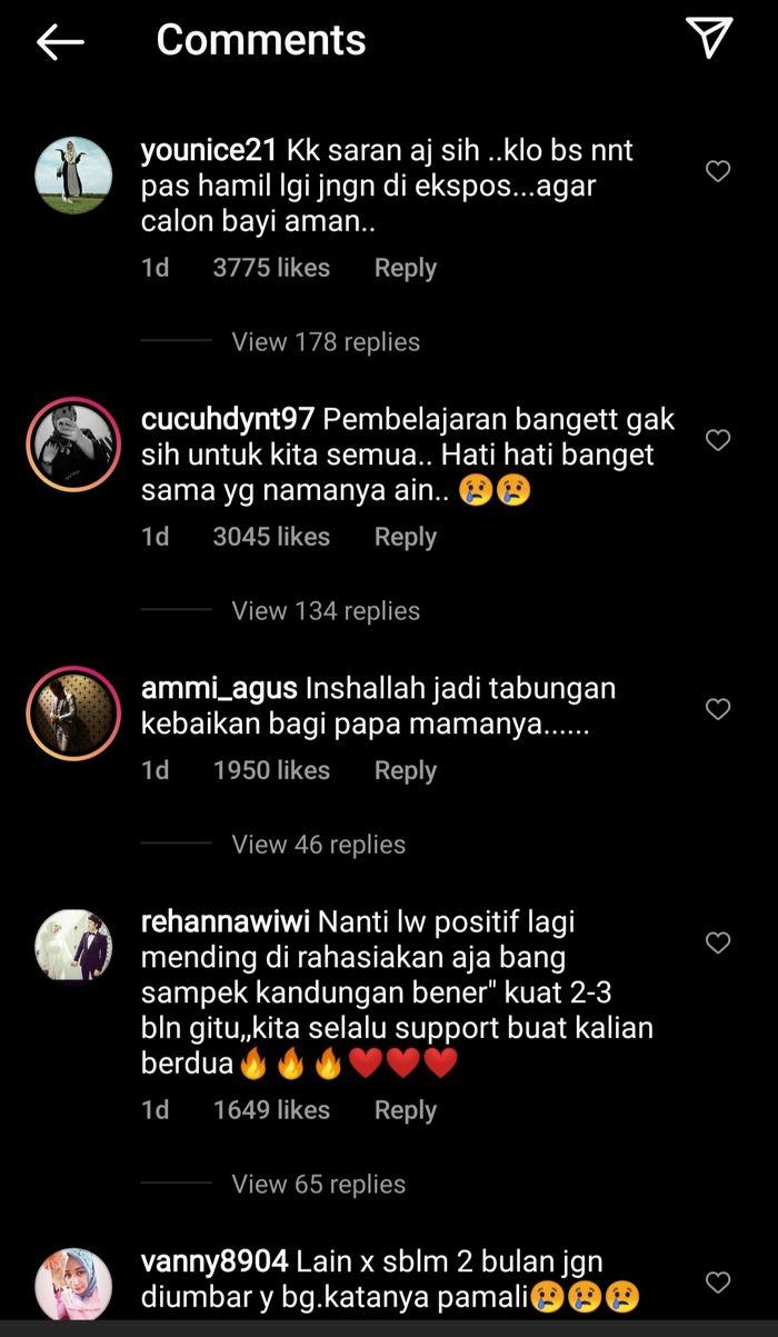 Komentar Netizen di unggahan media sosial Atta Halilintar soal penyakit ain
