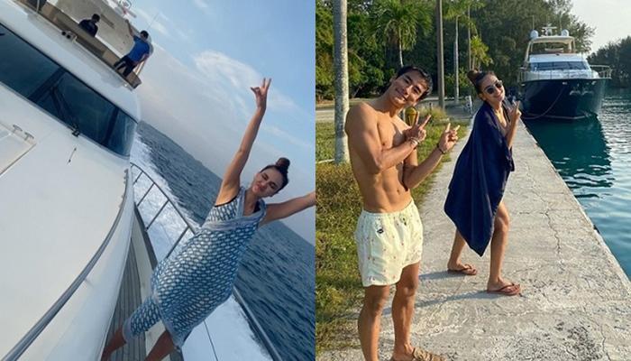 Luna Maya dan Ryochin saat liburan bersama. Foto diposting 29 September 2020.