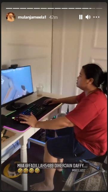 Mulan Jameela rekam aksi ART main Game