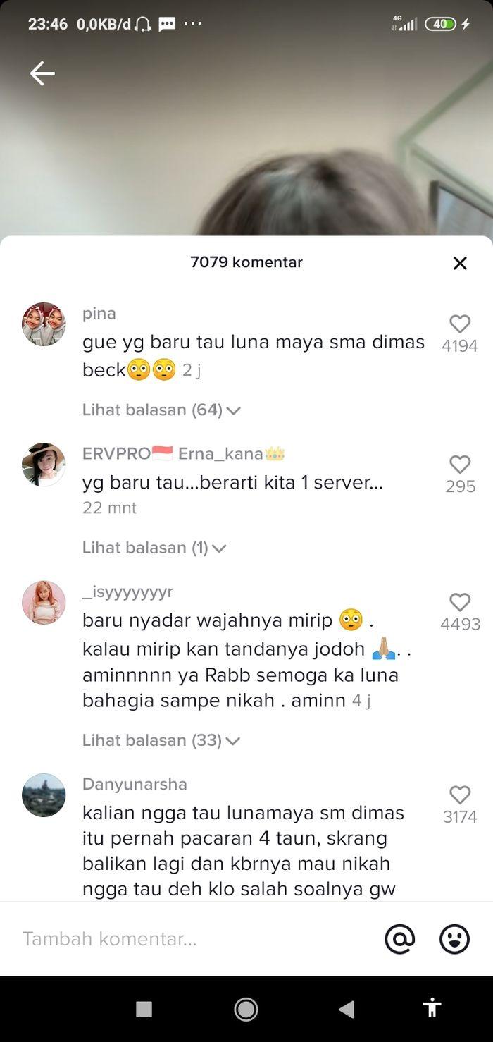 netizen heboh melihat kedekatan Luna Maya dan Dimas Beck.