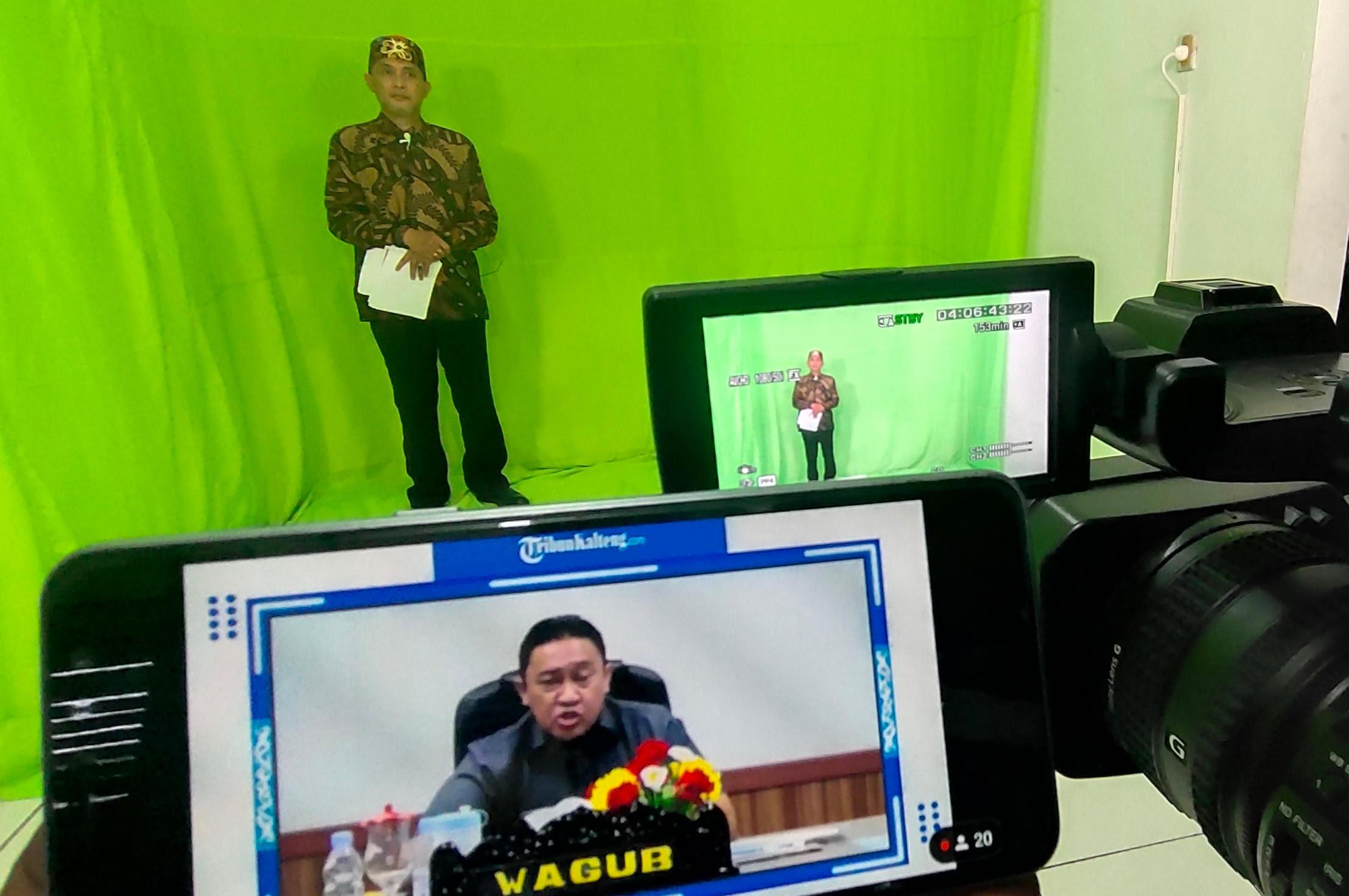Peluncuran Tribunkalteng.com, portal media ke-57 milik Tribun Network, saat menghadirkan Wakil Gubernur Kalimantan Tengah, Edy Pratowo, Senin (27/9/2021).