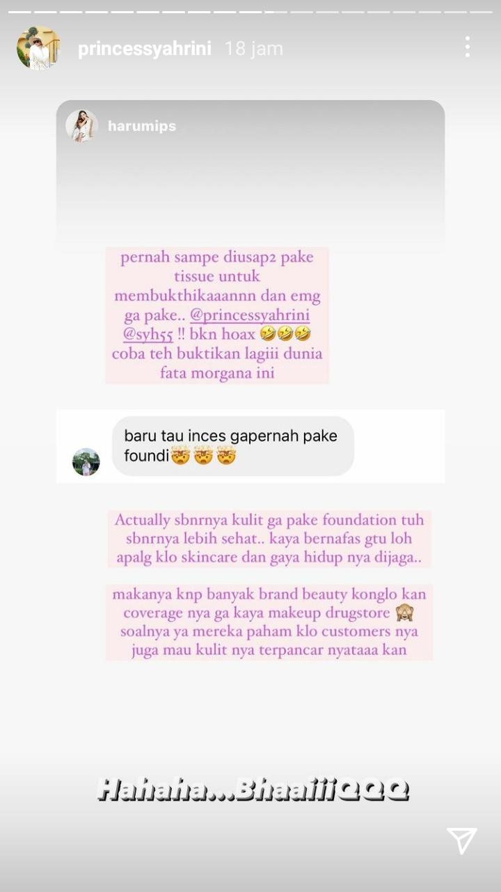Rahasia kulit Syahrini (instagram princessyahrini)
