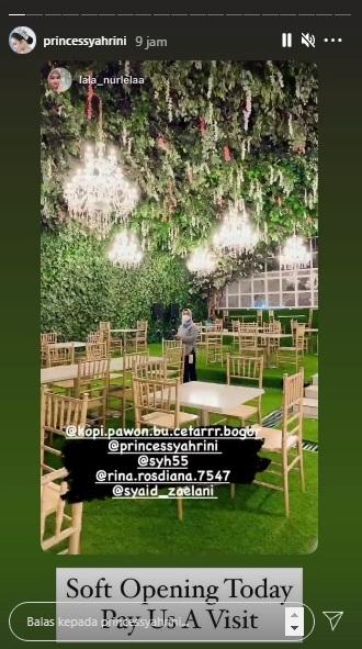 Restoran baru Syahrini