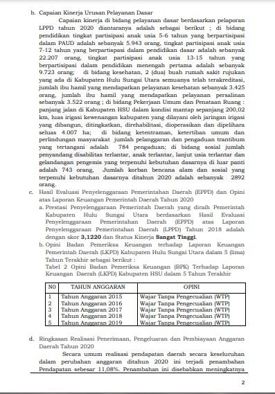 Ringkasan laporan HSU.