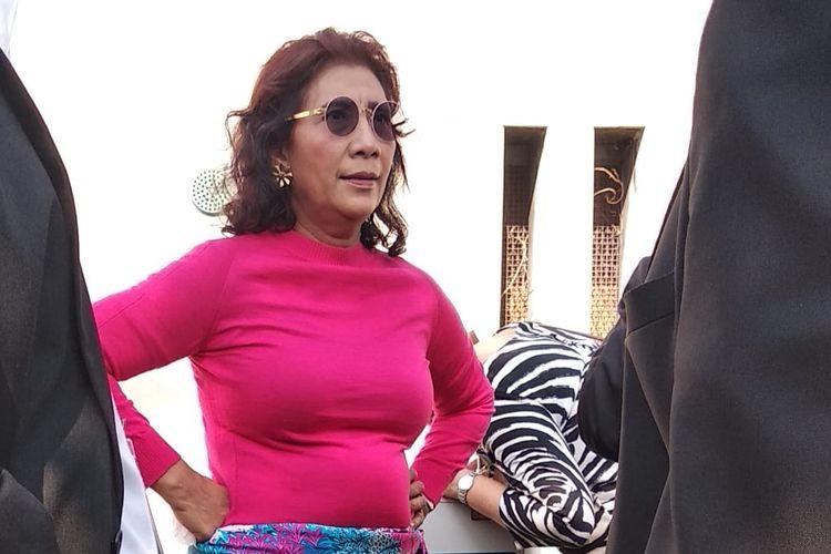 Susi Pudjiastuti sewaktu jadi Menteri KKP  saat rehat di sela-sela Sidang Umum PBB di New York, AS, Senin (23/9/2019). Usai dari PBB, Menteri Susi memberi kuliah umum di New York University.