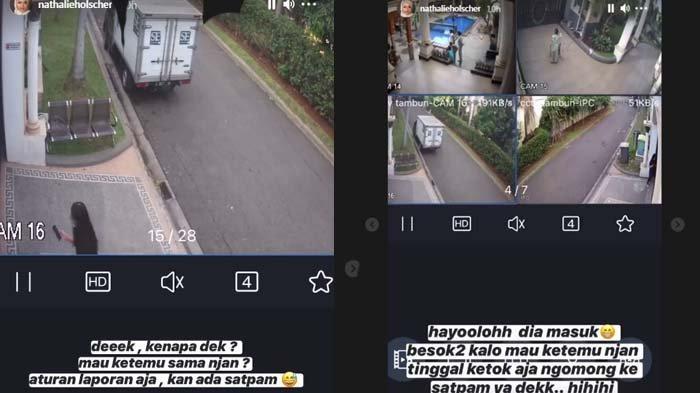 wanita misterius merangsek masuk ke rumah Sule, ketahuan sama Nathalie Holscher (kolase Instagram Story @nathalieholscher)
