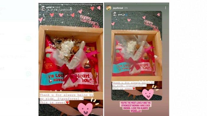 Kado valentine dari Wijaya Saputra alias Wijin kepada Gisella Anastasia, kekasihnya