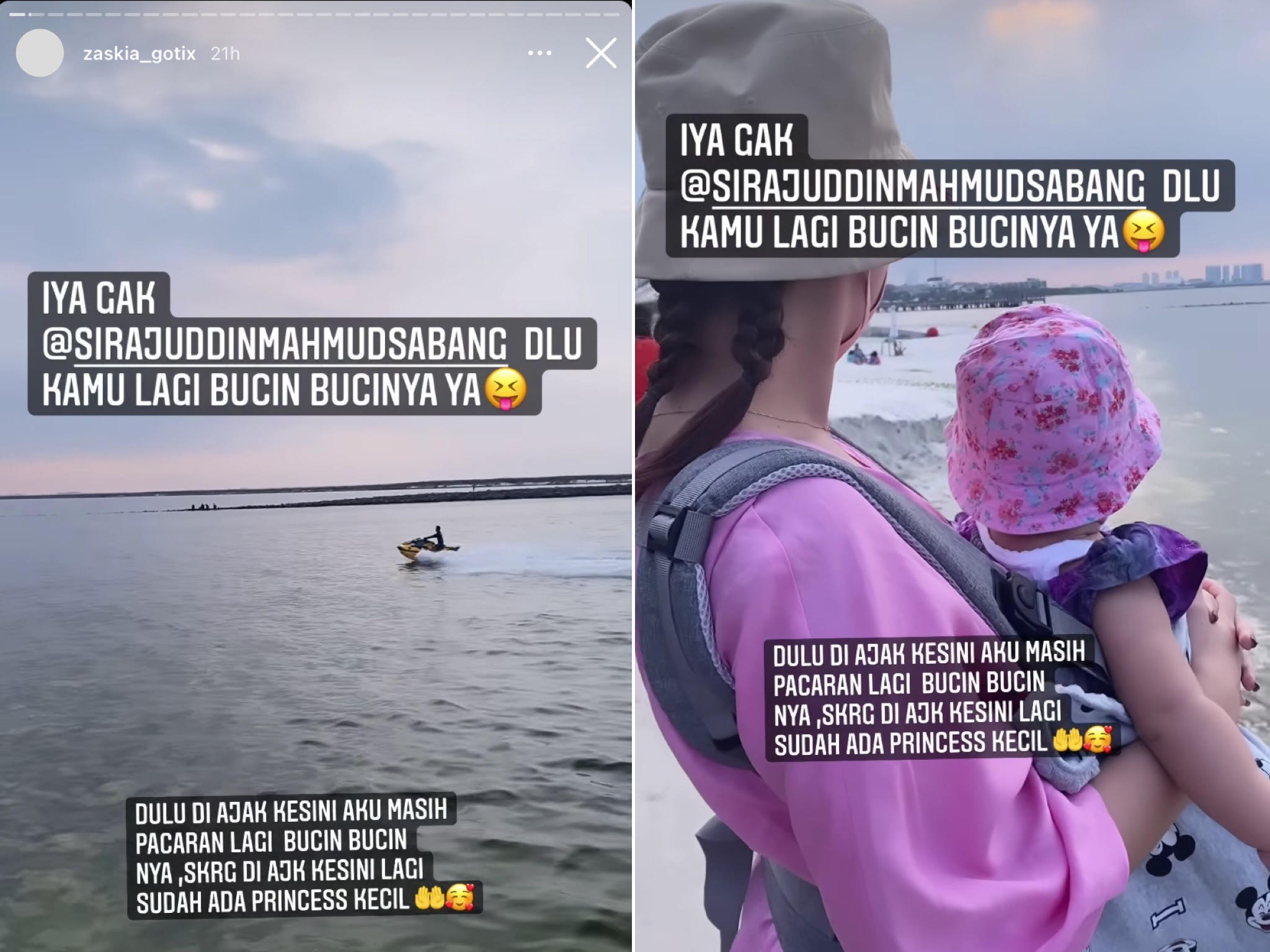 Postingan Story Instagram Zaskia Gotik