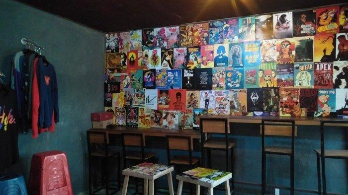 Interior Kinigara Coffee di Kota Sampit, Kalteng.