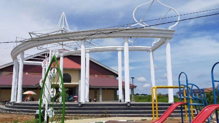 Taman Bermain Bersahaja di Daha Selatan, HSS, Selalu Ramai Dikunjungi Warga Tiap Sore